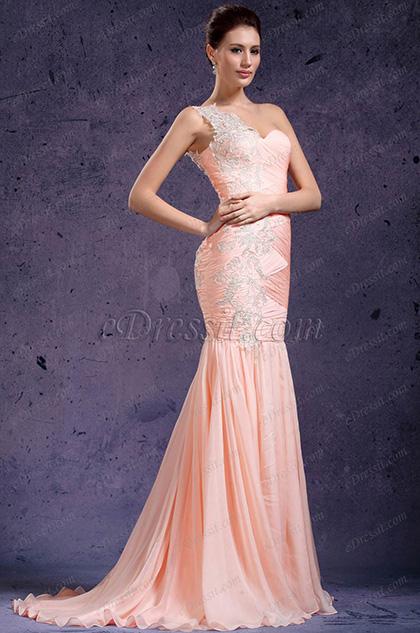 eDressit Solo Hombro Fabuloso Vestido de Noche Largo (02132001)