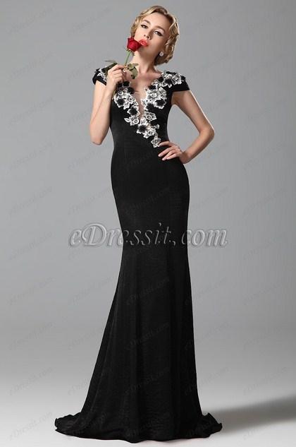 eDressit  Kappe Ärmel Abendkleid Ballkleid Formal Kleid (02151100)