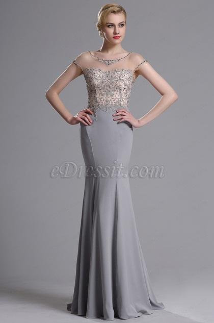 eDressit Illusion Ausschnitt Mermaid Abschlussball Kleid (02163608)