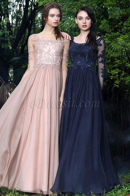 eDressit Marineblau Spitze Kleid für die Brautmutter(26170705)
