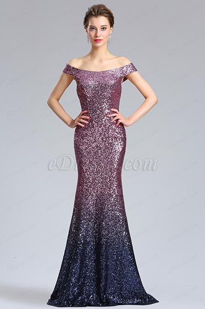 eDressit Elegant Schulterfrei Pailletten Party Abendkleid (02183206)