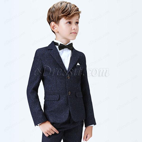 eDressit Dark Blue Boys Suits Children Wedding Tuexdo (16190105)