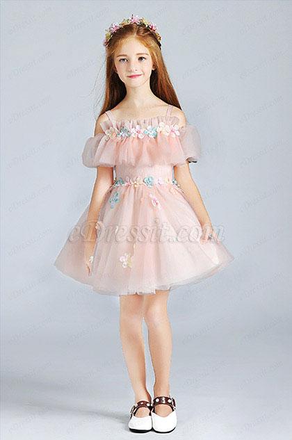 eDressit Pink Lovely  Princess Wedding Flower Girl Dress (28190401)