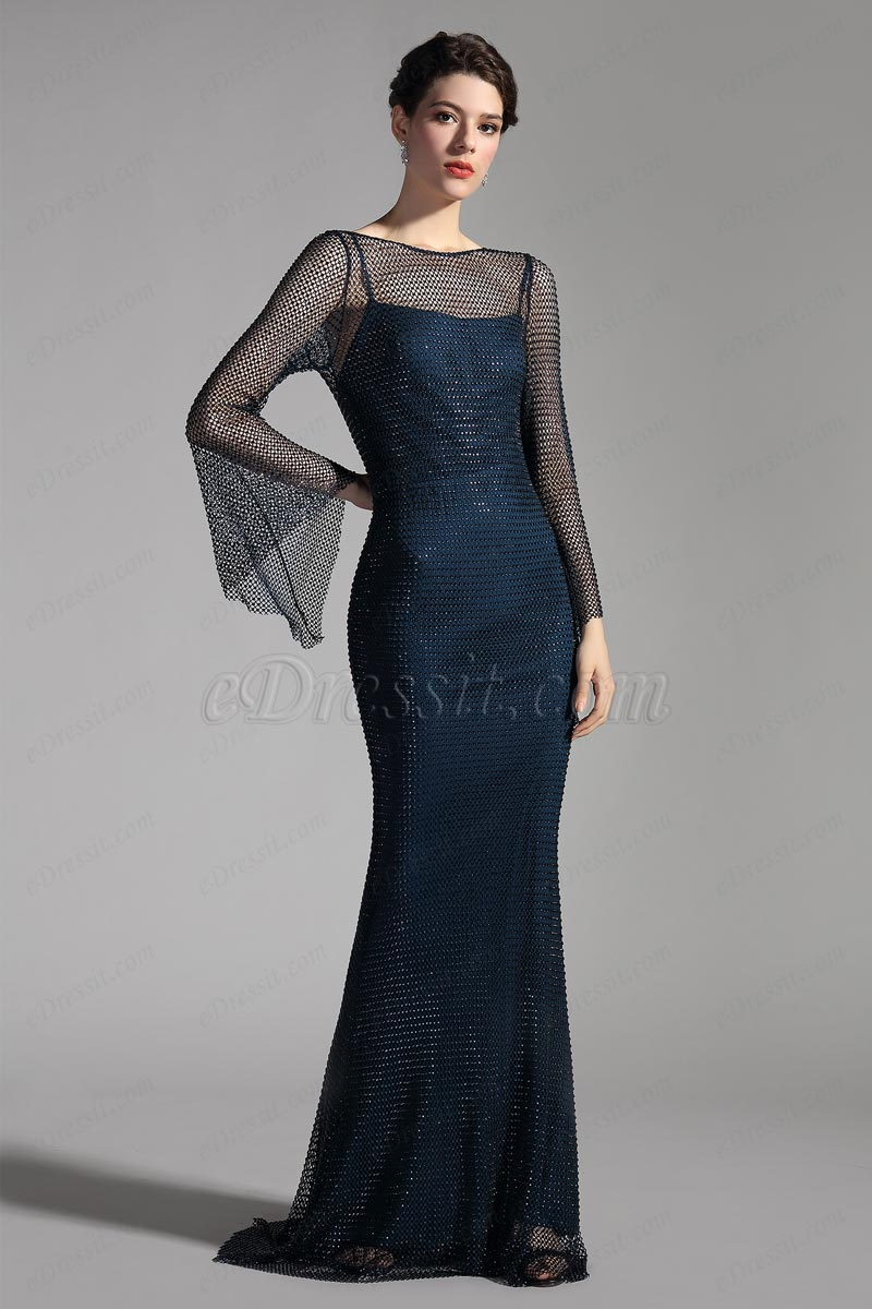 eDressit 2 шт спагетти ремни с сетчатым платьем русалк (02206105)