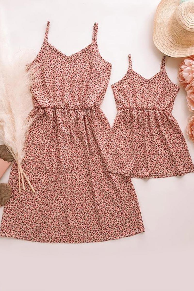 New Mama und Mich Sommer Blumendruck-passendes Kleid (T400868)