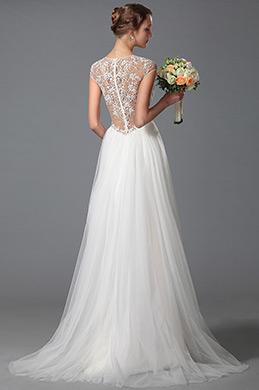 eDressit Schön VAusschnitt Spitze Hochzeitskleid Brautkleid (01150207)