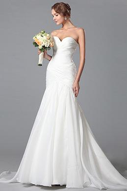 Einfach Süß Ausschnitt Hochzeitskleid Brautkleid (01150407)