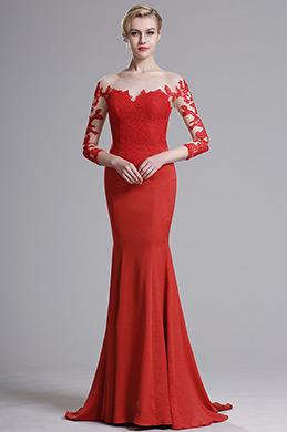 eDressit Rot Spitzenkorsett herziges Mermaid Prom Kleid(02164102)