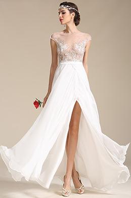 Sexy Kappe Armeln Hochzeitskleid Ballkleid (01151607)