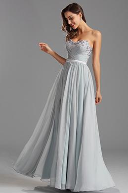 Trägerlos  süß Schlitz mit Lace Abendkleid   (00160208)