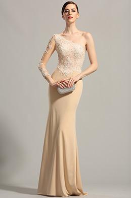 Stilvolle Ein Schulter Spitze Abendkleid Formal Kleid (00154214)