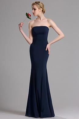 eDressit Dunkelblau Strapless Mermaid Abschlussball Kleid (00163605)