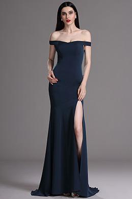 eDressit Robe de Soirée Hors Épaule Fente Bleue Sexy(00163505)