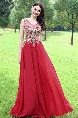 eDressit Robe de Soirée Sans Manche Bijoux Perlés Rouge(36170502)