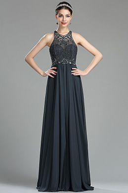 eDressit Sparkly Grey Beaded Sequin Evening Dressing Gown (36181108)