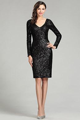 Платье коктейльное из вечерней вечеринки eDressit Black  (04180700)