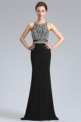 Платье вечернее выпускное платье из вышитого бисером (36183700)