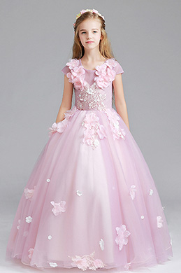 eDressit Pink Cap Manches Children Wedding Flower Girl Dress (27196301)