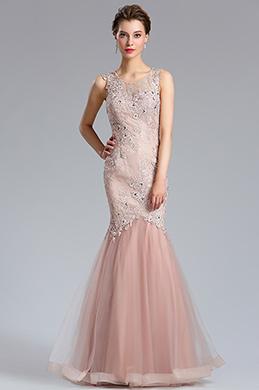 eDressit rosa Strap Abendkleid Meerjungfrau Party Abendkleid(36184846)