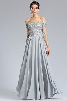 eDressit Long Sleeves Grey lace Formal Evening Dress (36181908)