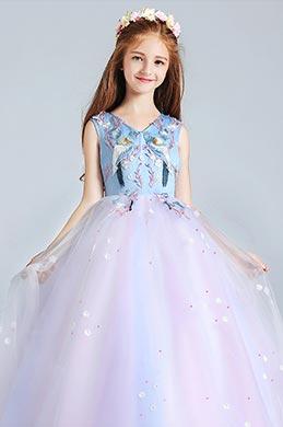eDressit Long Blue Lovely Princess Party Stage Flowergirl Dress (27190505)