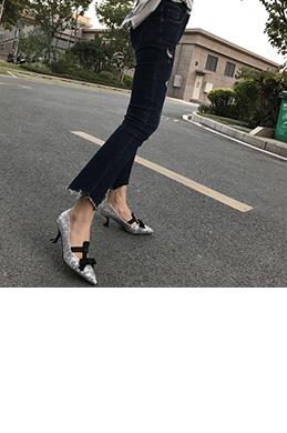 eDressit Women Sequins Toe Closed Mid Heels Shoes (0919053)