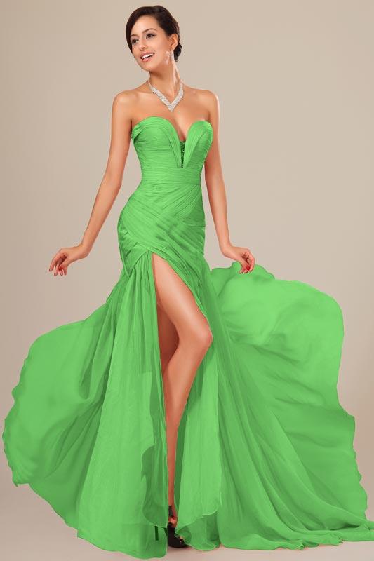 eDressit Green  Chiffon Ruched bodice Evening Dress (00120539)