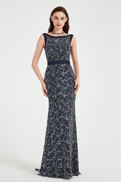 eDressit Sexy Blau Spitze Elegantes Party Abendkleid(02202405)