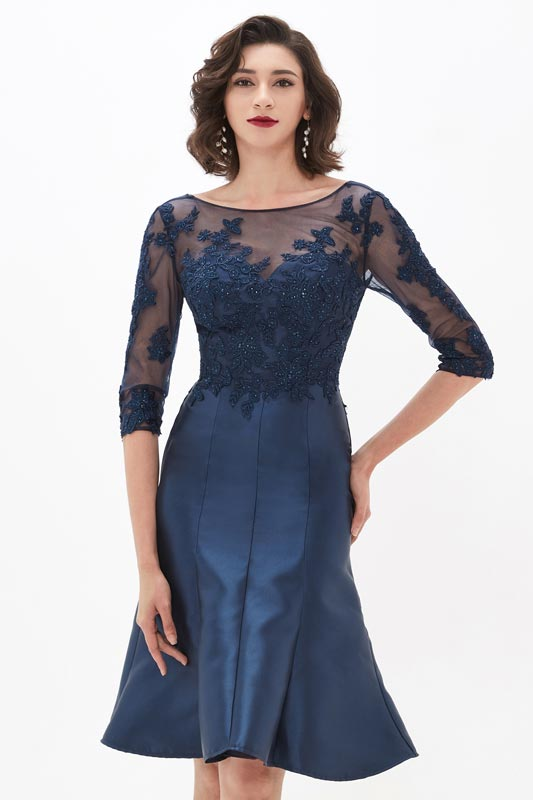 eDressit Illusion Neckline Sleeves Lace Mother of the Bride Dress (26210205)