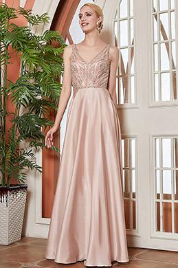eDressit Nouvelle Robe de Soirée Longue V Col Avec Perles (00202446)