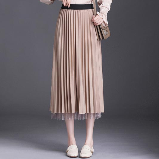 New Women Lace Tulle Rock Summer Party Skirt Dress (T440006)
